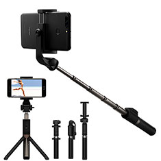 Palo Selfie Stick Bluetooth Disparador Remoto Extensible Universal S23 para Apple iPhone 11 Pro Max Negro