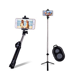 Palo Selfie Stick Bluetooth Disparador Remoto Extensible Universal S24 para Apple iPhone 11 Pro Max Negro