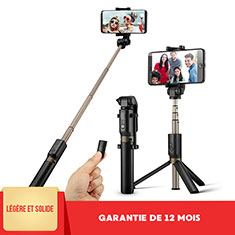 Palo Selfie Stick Bluetooth Disparador Remoto Extensible Universal S27 para Apple iPhone 11 Pro Max Negro