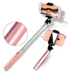 Palo Selfie Stick Extensible Conecta Mediante Cable Universal S22 para Huawei Mate 7 Oro Rosa