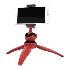 Palo Selfie Stick Tripode Bluetooth Disparador Remoto Extensible Universal T09 para Apple iPhone 11 Pro Max Rojo