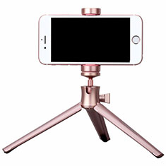 Palo Selfie Stick Tripode Bluetooth Disparador Remoto Extensible Universal T10 para Apple iPhone 11 Pro Max Oro Rosa