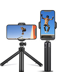 Palo Selfie Stick Tripode Bluetooth Disparador Remoto Extensible Universal T12 para Apple iPhone 11 Pro Max Negro