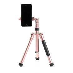 Palo Selfie Stick Tripode Bluetooth Disparador Remoto Extensible Universal T15 para Apple iPhone 11 Pro Max Oro Rosa