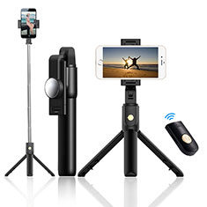 Palo Selfie Stick Tripode Bluetooth Disparador Remoto Extensible Universal T22 para Apple iPhone 11 Pro Max Negro