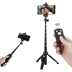 Palo Selfie Stick Tripode Bluetooth Disparador Remoto Extensible Universal T24 para Apple iPhone 11 Pro Max Negro