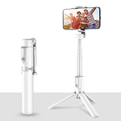 Palo Selfie Stick Tripode Bluetooth Disparador Remoto Extensible Universal T28 para Apple iPhone 12 Mini Blanco