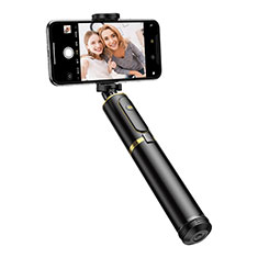 Palo Selfie Stick Tripode Bluetooth Disparador Remoto Extensible Universal T34 para Apple iPhone 8 Plus Oro y Negro