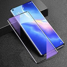 Protector de Pantalla Cristal Templado Integral Anti luz azul para Oppo Reno5 Pro+ Plus 5G Negro