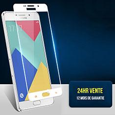 Protector de Pantalla Cristal Templado Integral F02 para Samsung Galaxy A7 (2016) A7100 Blanco
