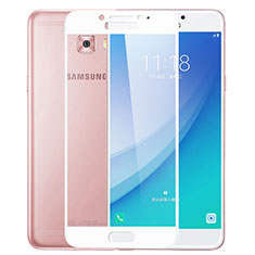 Protector de Pantalla Cristal Templado Integral F02 para Samsung Galaxy C7 Pro C7010 Blanco