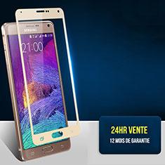 Protector de Pantalla Cristal Templado Integral F02 para Samsung Galaxy Note 4 Duos N9100 Dual SIM Oro