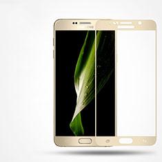 Protector de Pantalla Cristal Templado Integral F02 para Samsung Galaxy Note 5 N9200 N920 N920F Oro