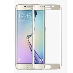 Protector de Pantalla Cristal Templado Integral F02 para Samsung Galaxy S6 Edge SM-G925 Blanco