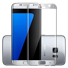 Protector de Pantalla Cristal Templado Integral F03 para Samsung Galaxy S7 Edge G935F Plata