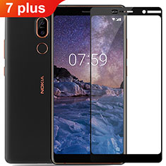 Protector de Pantalla Cristal Templado Integral para Nokia 7 Plus Negro