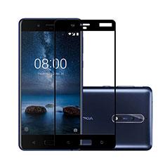 Protector de Pantalla Cristal Templado Integral para Nokia 8 Negro