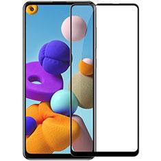 Protector de Pantalla Cristal Templado Integral para Samsung Galaxy A21s Negro