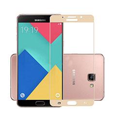Protector de Pantalla Cristal Templado Integral para Samsung Galaxy A7 (2016) A7100 Oro