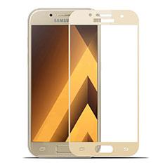 Protector de Pantalla Cristal Templado Integral para Samsung Galaxy A7 (2017) A720F Oro