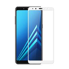 Protector de Pantalla Cristal Templado Integral para Samsung Galaxy A8 (2018) A530F Blanco