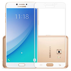 Protector de Pantalla Cristal Templado Integral para Samsung Galaxy C5 Pro C5010 Blanco