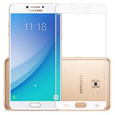 Protector de Pantalla Cristal Templado Integral para Samsung Galaxy C7 Pro C7010 Blanco
