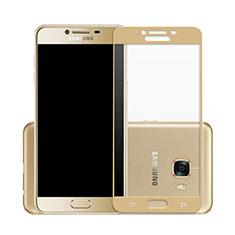Protector de Pantalla Cristal Templado Integral para Samsung Galaxy C7 SM-C7000 Oro