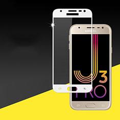Protector de Pantalla Cristal Templado Integral para Samsung Galaxy J3 Pro (2017) Blanco