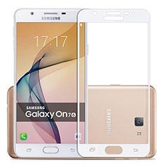 Protector de Pantalla Cristal Templado Integral para Samsung Galaxy J7 Prime Blanco