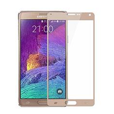 Protector de Pantalla Cristal Templado Integral para Samsung Galaxy Note 4 Duos N9100 Dual SIM Oro
