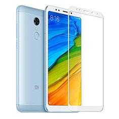 Protector de Pantalla Cristal Templado Integral para Xiaomi Redmi Note 5 Indian Version Blanco