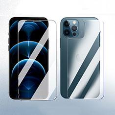 Protector de Pantalla Ultra Clear Frontal y Trasera Cristal Templado para Apple iPhone 12 Pro Max Claro