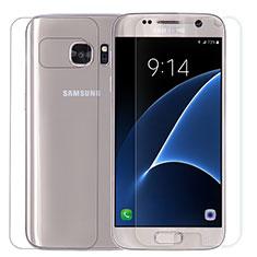 Protector de Pantalla Ultra Clear Frontal y Trasera Cristal Templado para Samsung Galaxy S7 G930F G930FD Claro