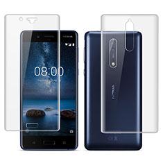 Protector de Pantalla Ultra Clear Frontal y Trasera para Nokia 8 Claro
