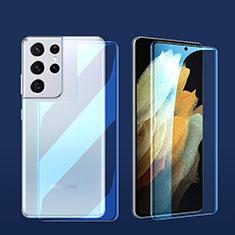 Protector de Pantalla Ultra Clear Frontal y Trasera para Samsung Galaxy S21 Ultra 5G Claro