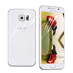 Protector de Pantalla Ultra Clear Frontal y Trasera para Samsung Galaxy S6 Duos SM-G920F G9200 Claro