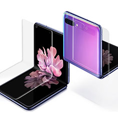 Protector de Pantalla Ultra Clear Frontal y Trasera para Samsung Galaxy Z Flip Claro