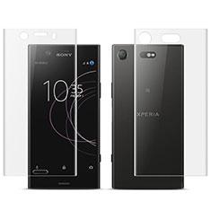 Protector de Pantalla Ultra Clear Frontal y Trasera para Sony Xperia XZ1 Compact Claro