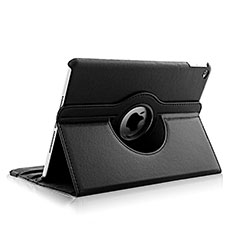 Rotating Stands Flip Leather Case para Apple iPad Air 2 Negro