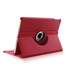 Rotating Stands Flip Leather Case para Apple iPad Air 2 Rojo