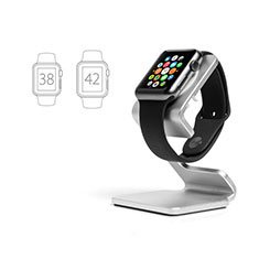 Soporte Dock Base Charging de Carga Cargador C01 para Apple iWatch 3 42mm Plata