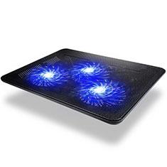 Soporte Ordenador Portatil Refrigeracion USB Ventilador 9 Pulgadas a 17 Pulgadas Universal L04 para Apple MacBook 12 pulgadas Negro