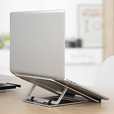 Soporte Ordenador Portatil Universal K04 para Samsung Galaxy Book Flex 15.6 NP950QCG Plata