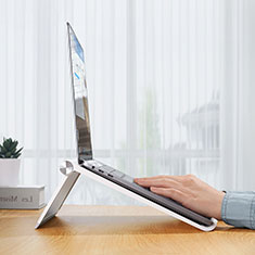 Soporte Ordenador Portatil Universal K11 para Samsung Galaxy Book Flex 13.3 NP930QCG Plata