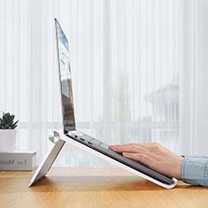 Soporte Ordenador Portatil Universal K11 para Samsung Galaxy Book Flex 15.6 NP950QCG Plata