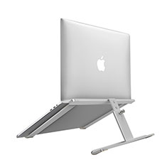Soporte Ordenador Portatil Universal T12 para Huawei MateBook X Pro (2020) 13.9 Plata