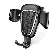 Soporte Universal de Coche Rejilla de Ventilacion Sostenedor A02 para Huawei Ascend Mate Negro