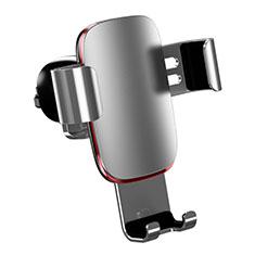 Soporte Universal de Coche Rejilla de Ventilacion Sostenedor A04 para Sony Xperia XA3 Ultra Plata