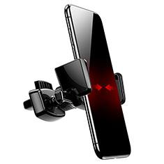 Soporte Universal de Coche Rejilla de Ventilacion Sostenedor A05 para Sony Xperia XA2 Negro